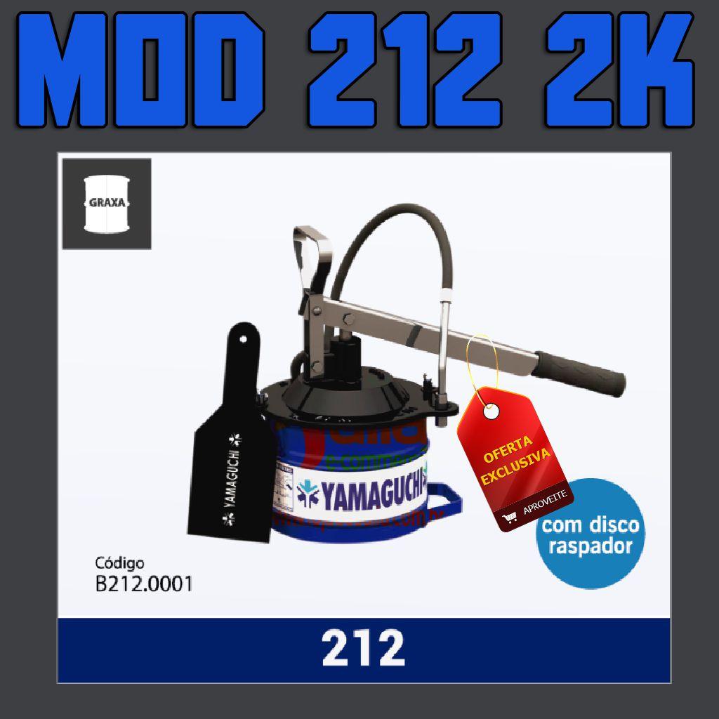 Graxeira / Bomba Balde Manual p/ Graxa 2k Yamaguchi Mod 212 c/ Disco Raspador