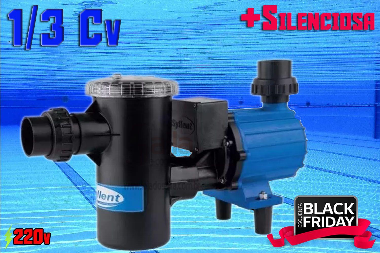 Bomba p/ Piscina Centrífuga Syllent Aqquant PF63E0312AS 1/3 CV Monofásico 220V c/ Pré-Filtro