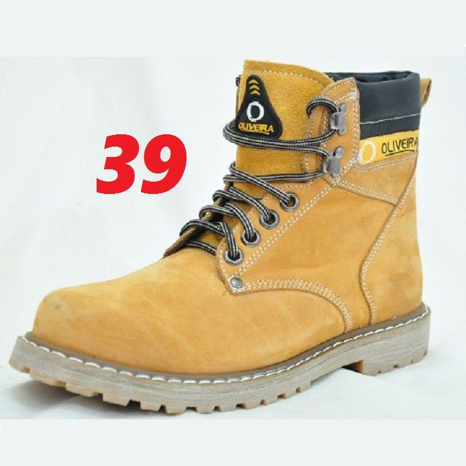 Botina Coturno Banana Nobuk Oliveira Sapato Número 39