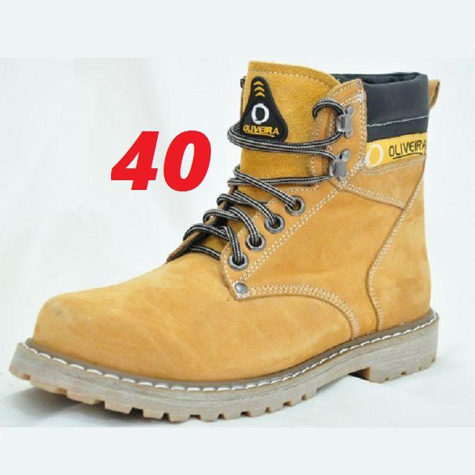 Botina Coturno Banana Nobuk Oliveira Sapato Número 40