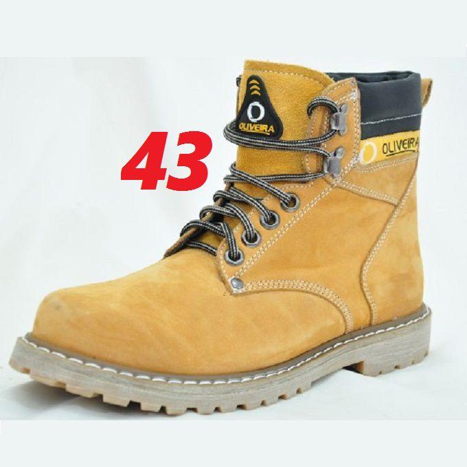 Botina Coturno Banana Nobuk Oliveira Sapato Número 43