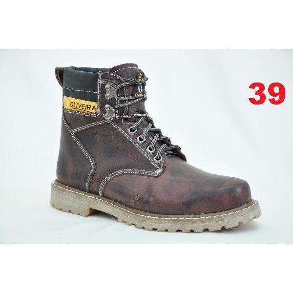 Botina Fossil Chocolate Oliveira Sapato Nº 39