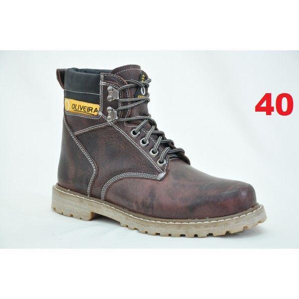 Botina Fossil Chocolate Oliveira Sapato Nº 40