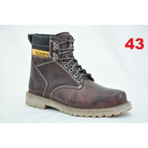Botina Fossil Chocolate Oliveira Sapato Nº 43
