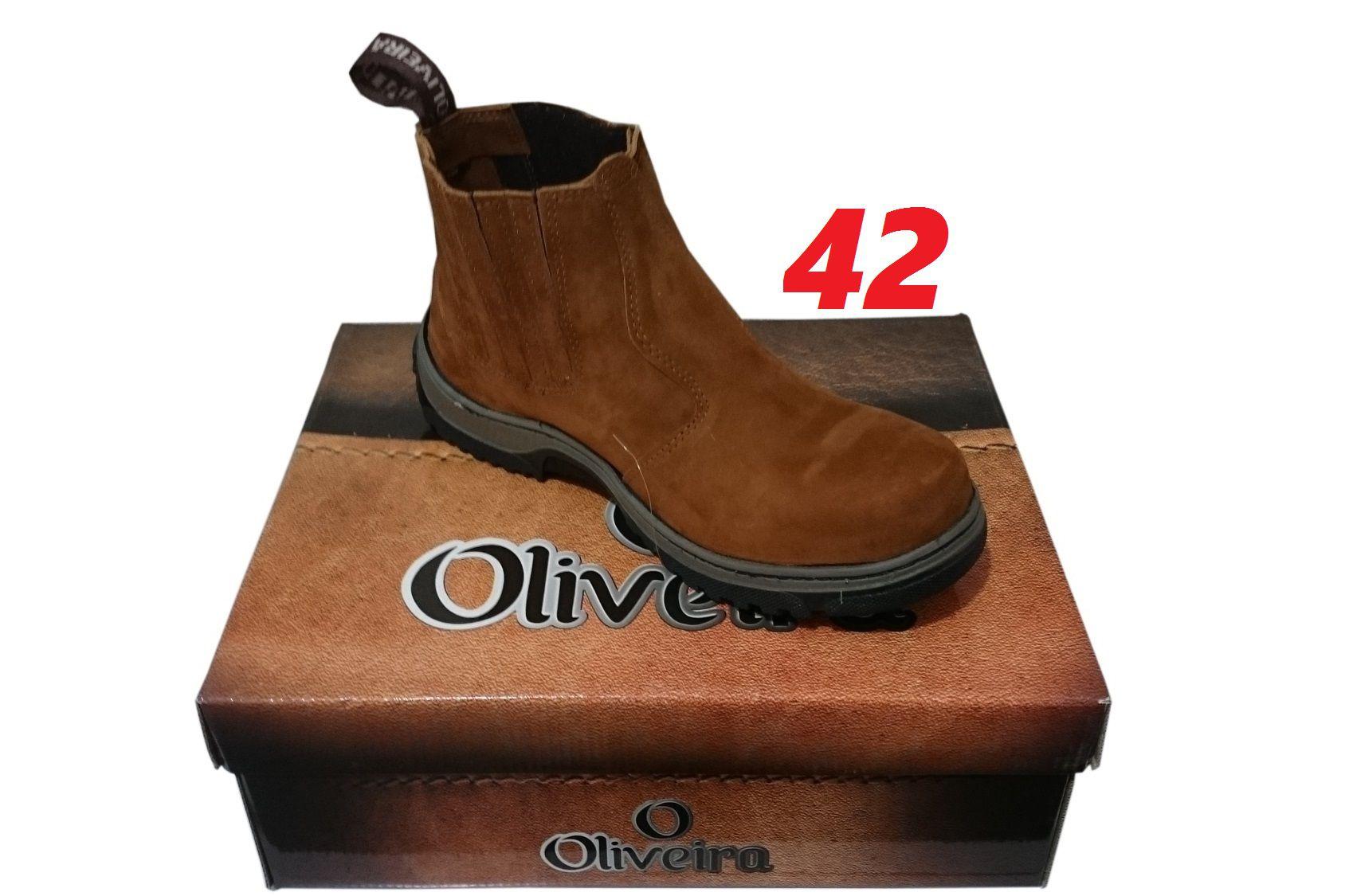 Botina Nobuk Castor Oliveira Sapato Nº 42
