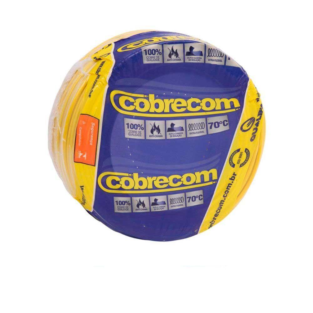 Cabo Flexível Amarelo 100m 2,5mm Cobrecom