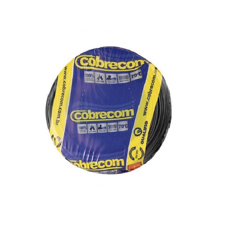 Cabo Flexível Preto 100m  6,0mm Cobrecom