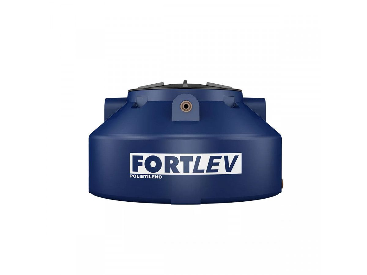 Caixa d´ Água / Tanque de Polietileno Azul 1000 Litros com Tampa Rosqueável Fortlev