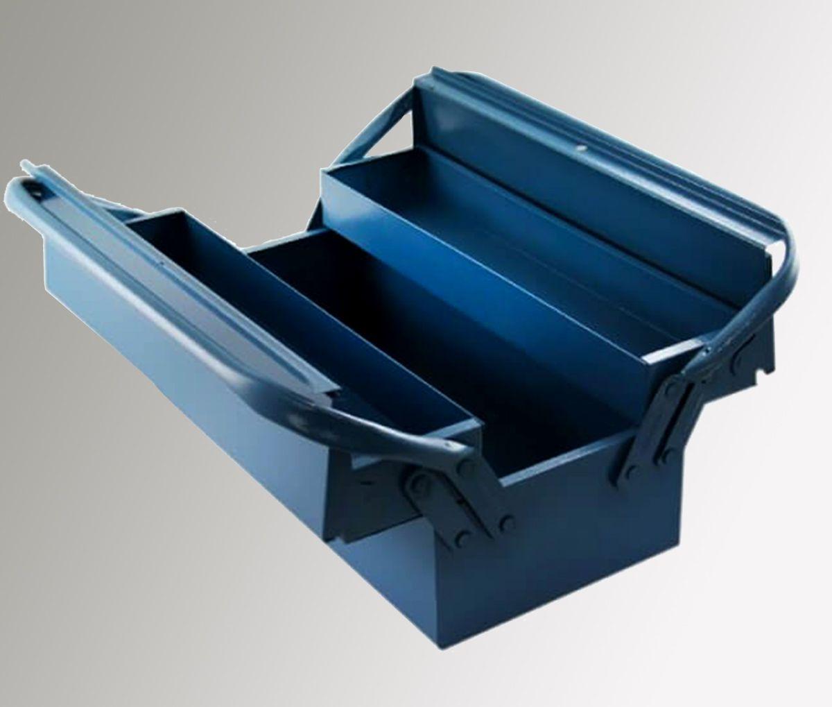Caixa de Ferramentas 40cm 3 Gavetas Azul c/Alça Superior Marcon