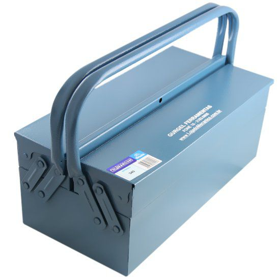 Caixa de Ferramentas 50cm 3 Gavetas Azul c/Alça Superior Marcon