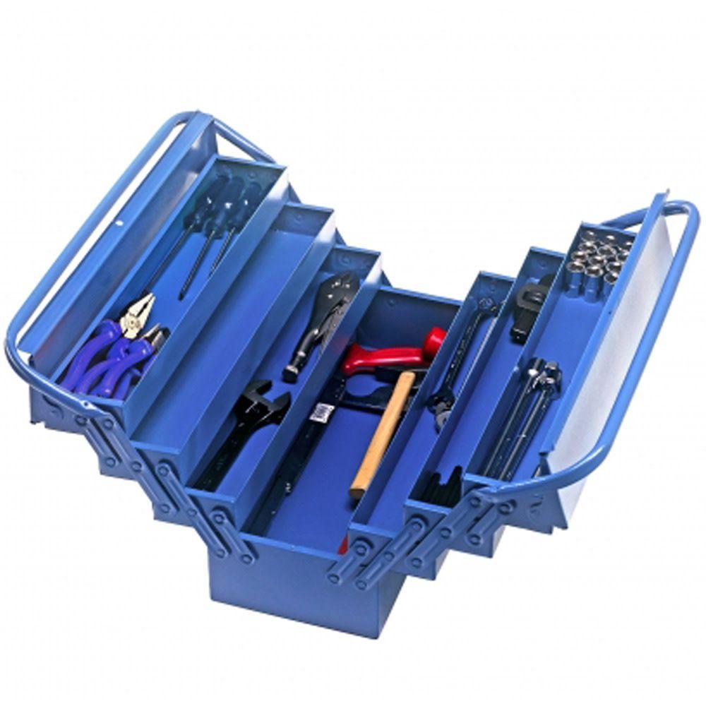 Caixa de Ferramentas 50cm 7 Gavetas Azul c/Alça Superior Marcon