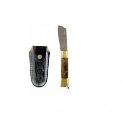 Canivete Aço Inox CB Latão/Madeira C/Bainha 320/7 Cimo