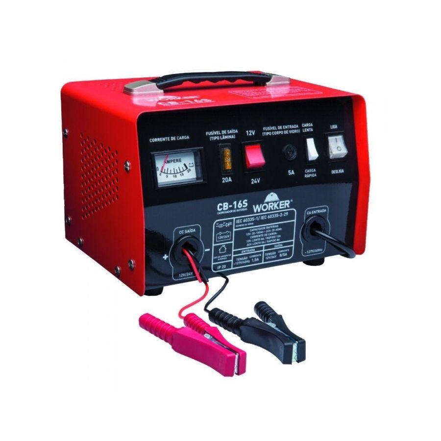 Carregador de Bateria CB 16S 220v Worker