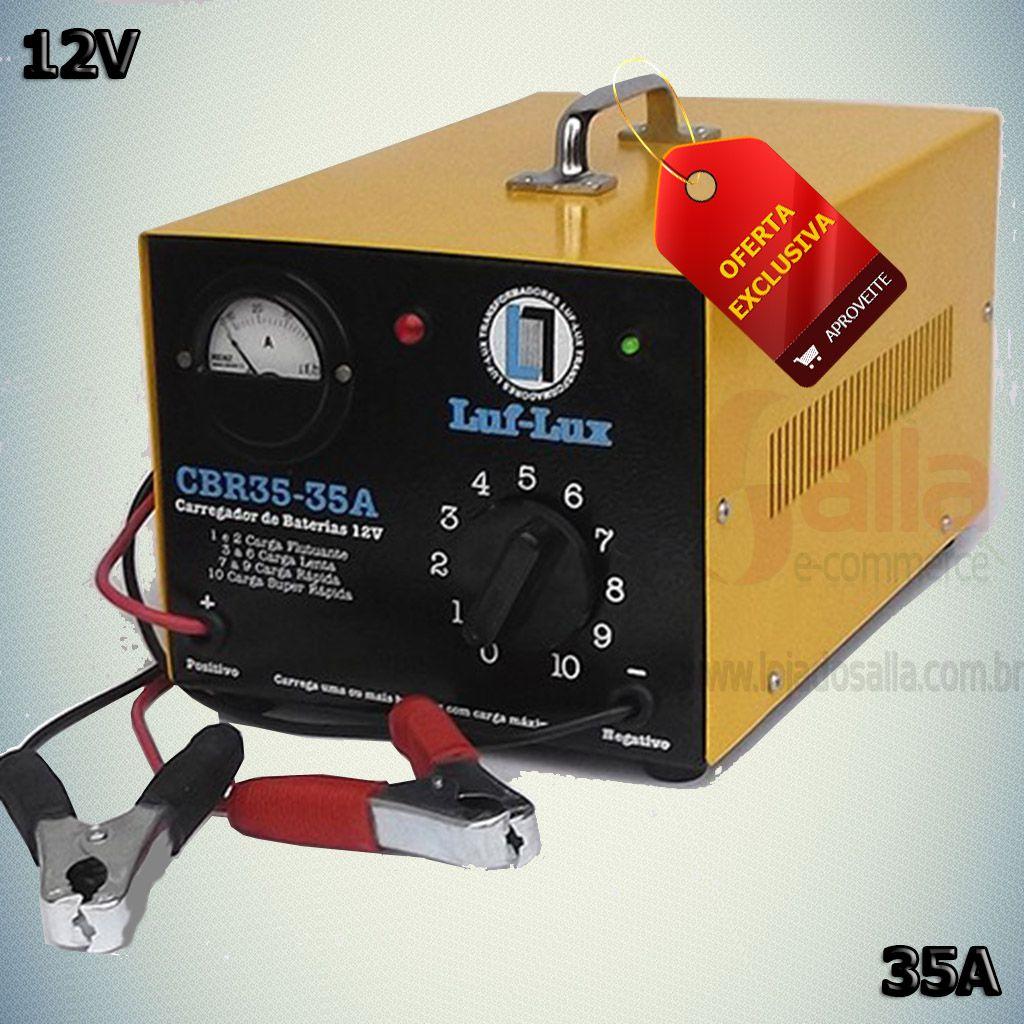 Carregador de Bateria Automotiva CBR35 35A 12v Luf-Lux