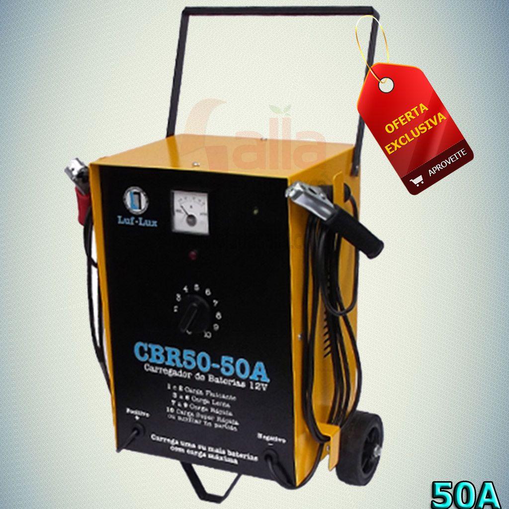 Carregador / Auxiliar de Bateria CBR50 50A 12v Luf-Lux