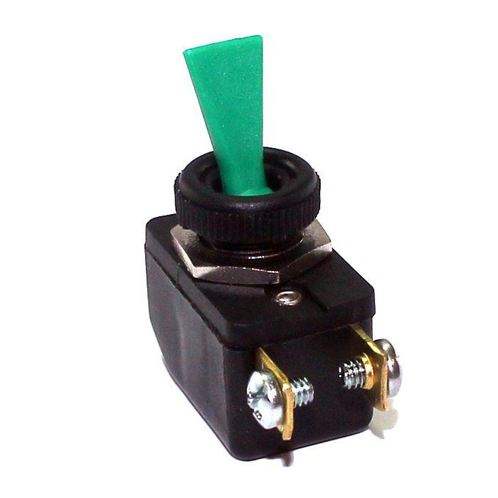 Chave / Interruptor de Alavanca Unipolar Verde L/D 6A CS-301D Margirius