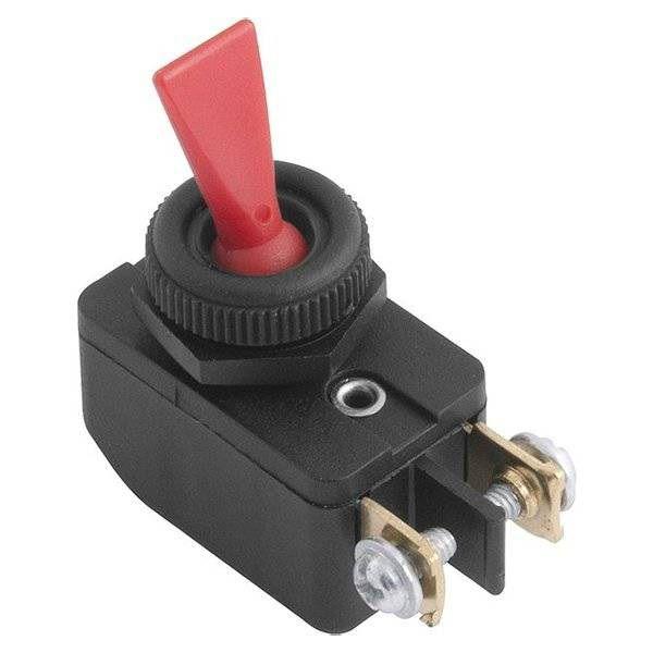 Chave / Interruptor de Alavanca Unipolar Vermelho L/D 6A CS-301D Margirius