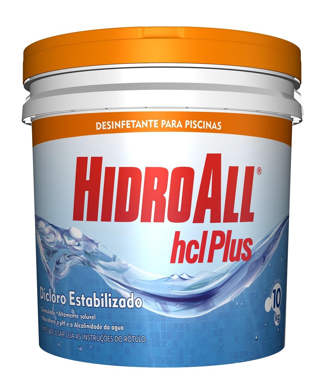 Cloro para Piscina / Desinfetante HCL Plus Balde 10 Kg Hidroall