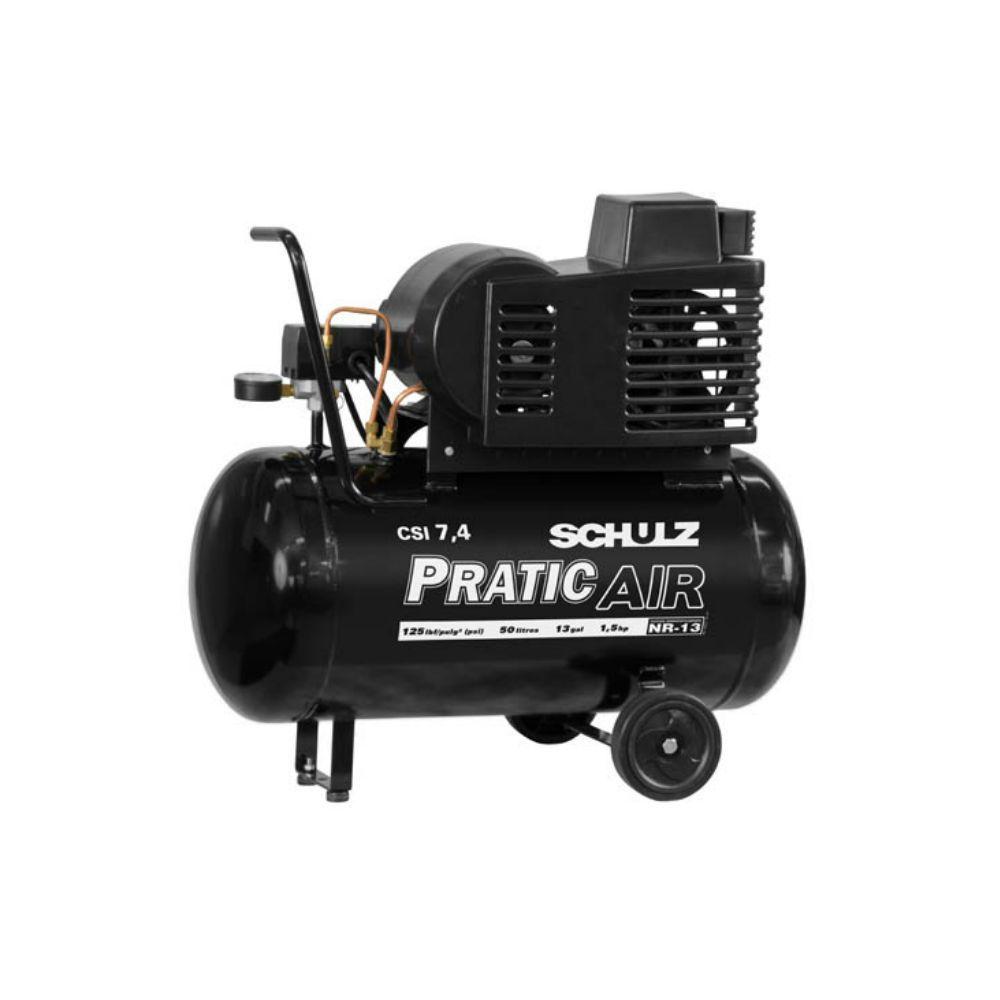 Compressor Ar CSI 7,4/50 LItros 5CV 220V Pratic Air
