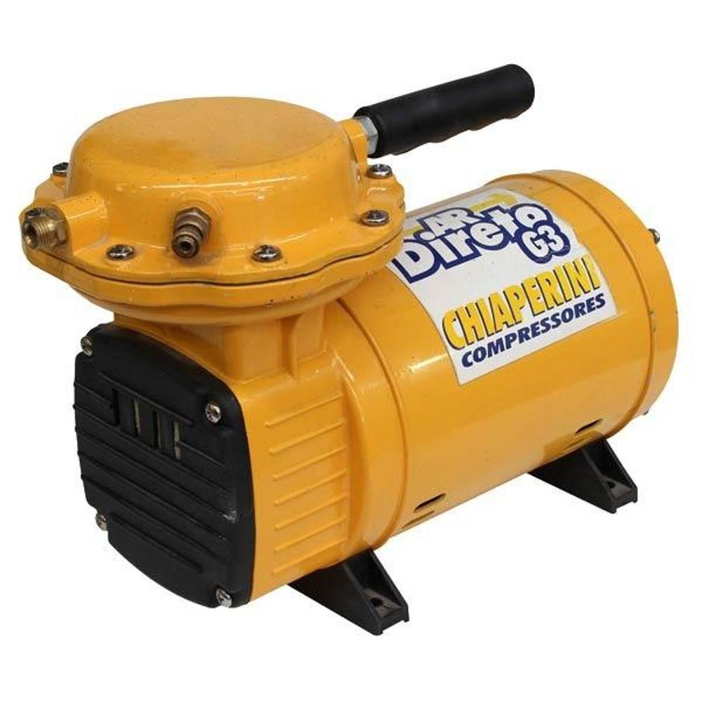 Motocompressor de Ar Direto G3 40 PSI 1/3Hp Bivolt Chiaperini + Tesoura Mundial