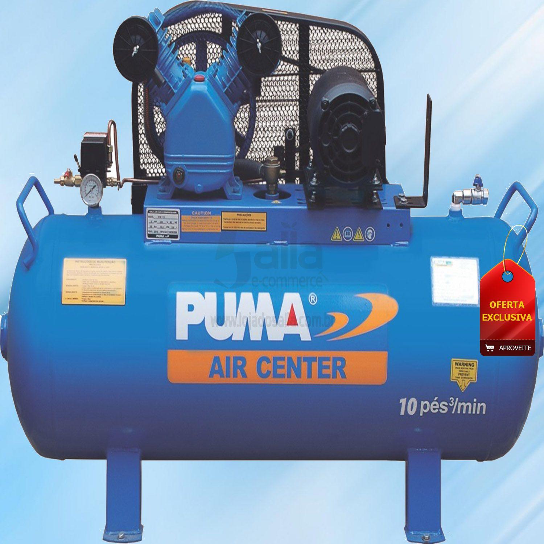 Compressor De Ar 10 pes 100 Litros 2cv mono 127/220v Puma Brasil PB10/100H