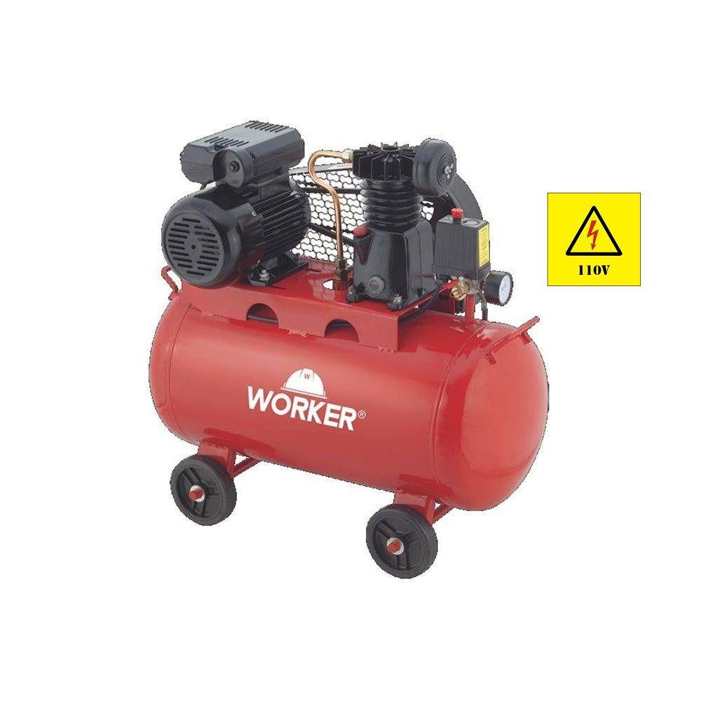 Compressor de Ar 1HP Mono 50 Litros 8 Bar 127V Worker