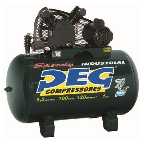 Compressor De Ar 5,2/100H 120lib 2P Monofásico Motor 1CV Peg
