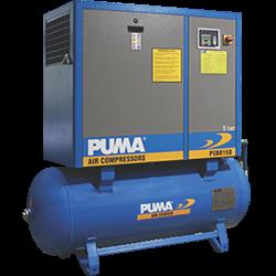 Compressor De Ar Parafuso Rotativo 15 CV/8-10 Bar 220v 270 Litros Puma PSBR15D/270