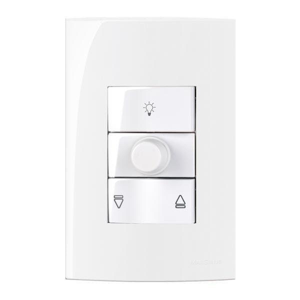Conjunto Controle para Ventilador de Teto Branco 127v Margirius Linha Sleek