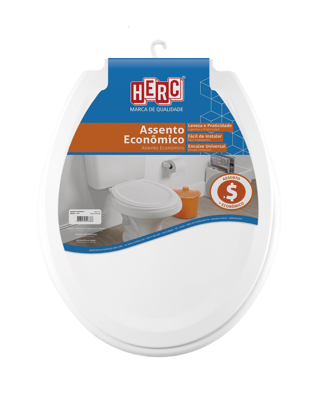 Conjunto / Kit com 4 Tampas de Vaso / Assentos Sanitário Branco Prático Econômico 3175 Herc