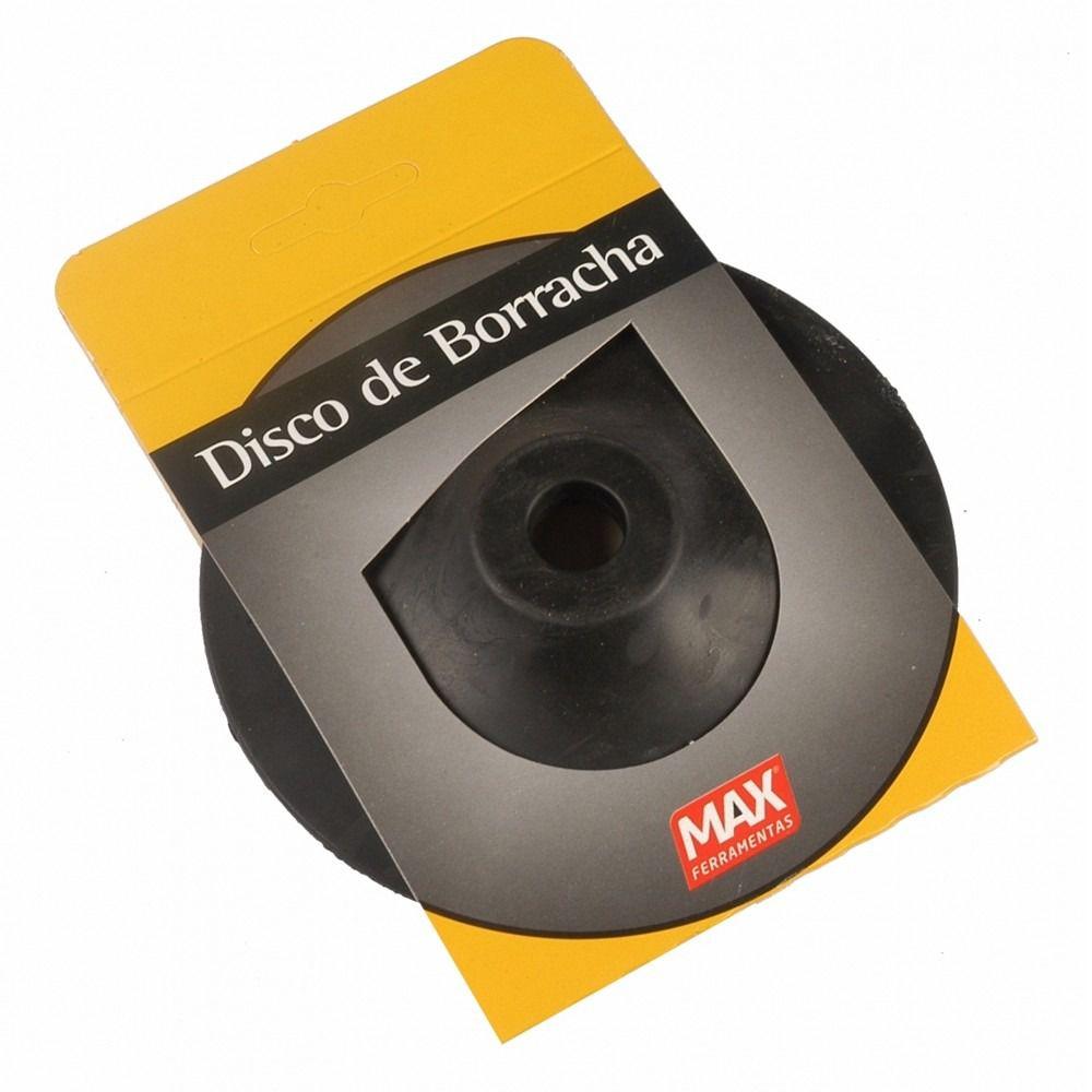 """Disco de Borracha Flexível 4 1/2"""" 12000rpm para Esmerilhadeira Max"""