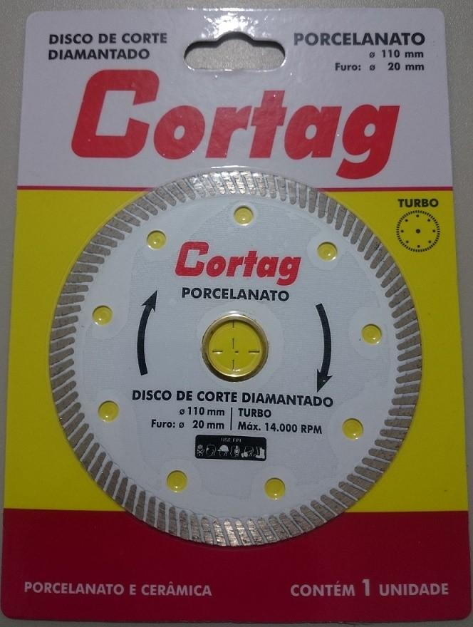 Disco Diamantado Profissional Liso Porcelanato 110mm Cortag