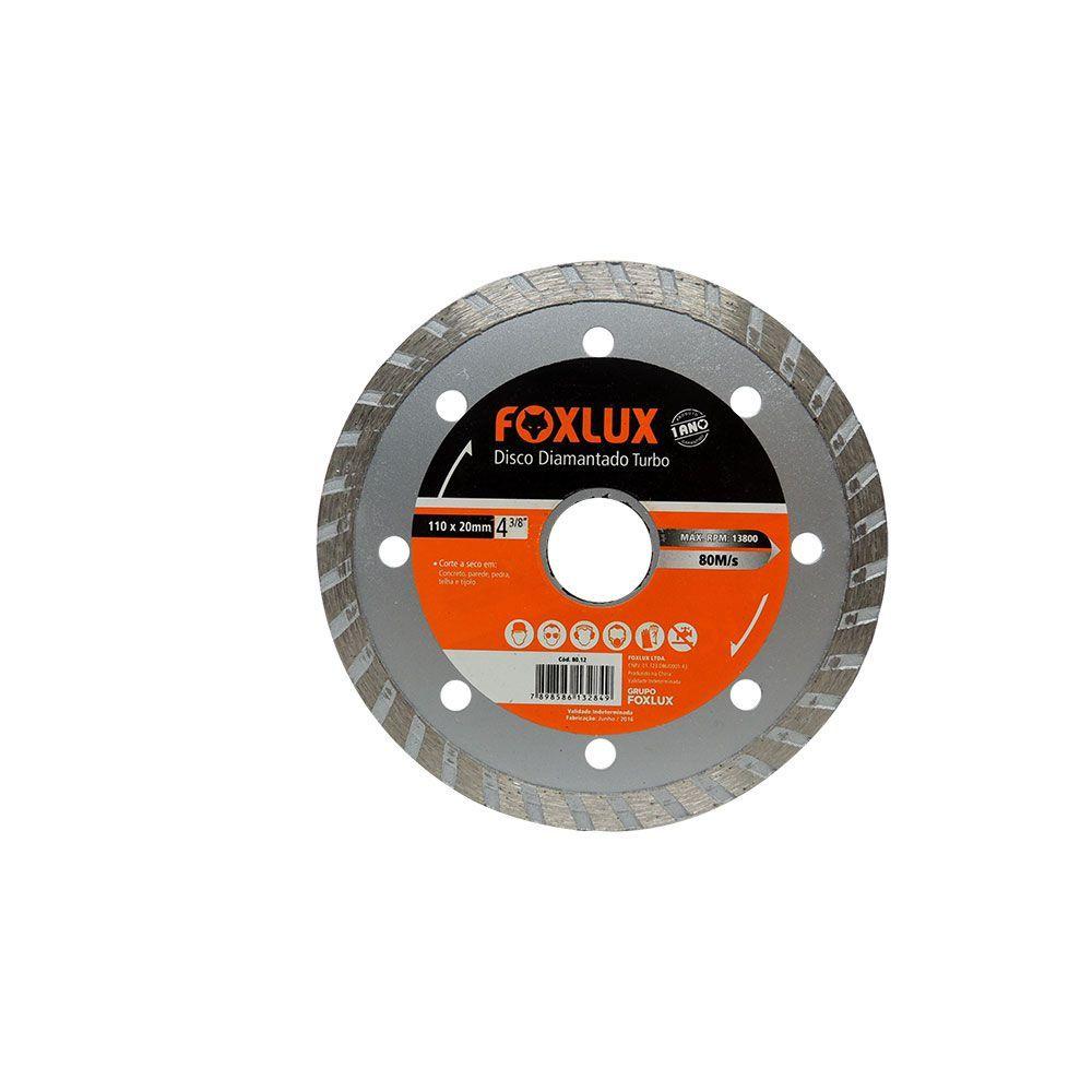 Disco Diamantado Segmentado 110mm x 20mm 3/8 Pol. Foxlux