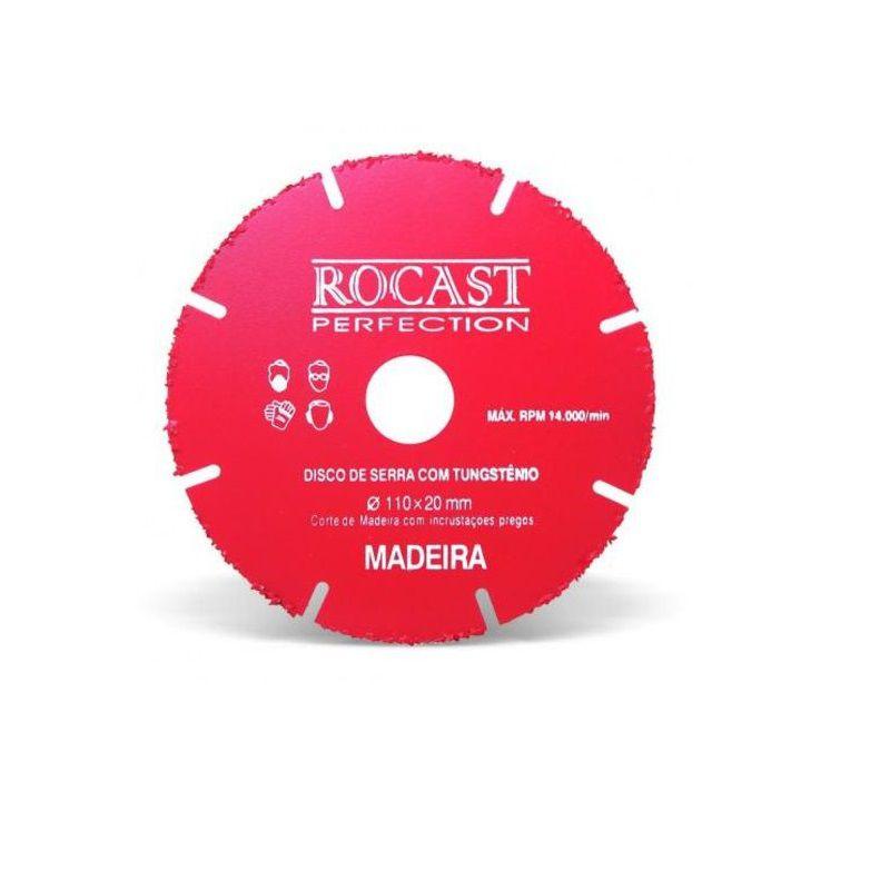Disco Serra Circular 110mm x 20mm Com Tungstenio Rocast
