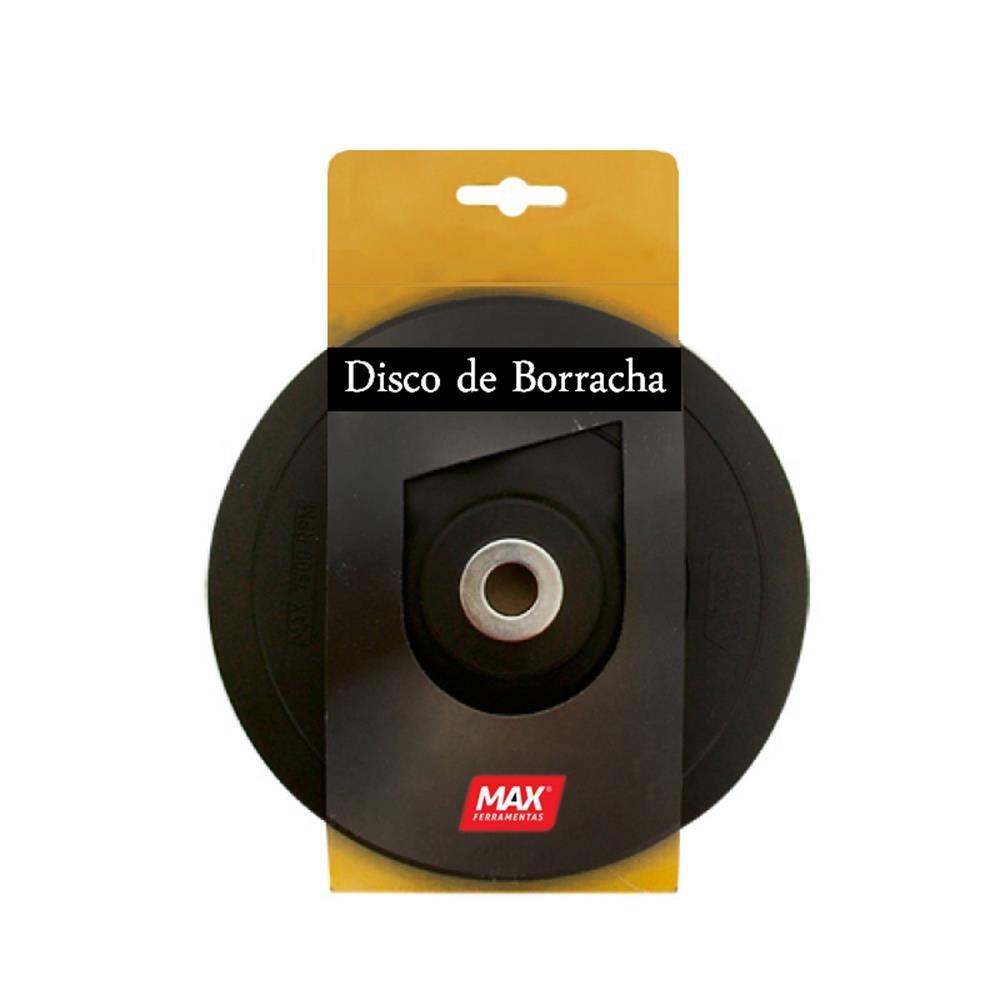 """Disco Suporte de Borracha 7""""' Flexivel Max"""
