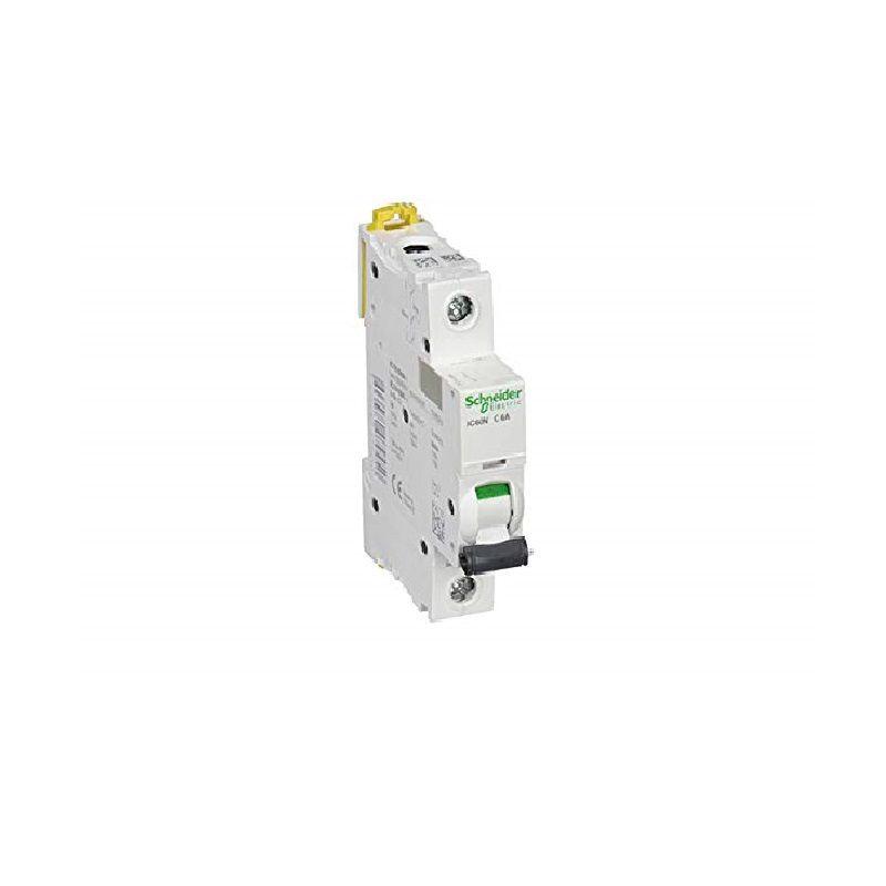 Disjuntor Monopolar 6A IC60N Curva C A9F74106 Schneider