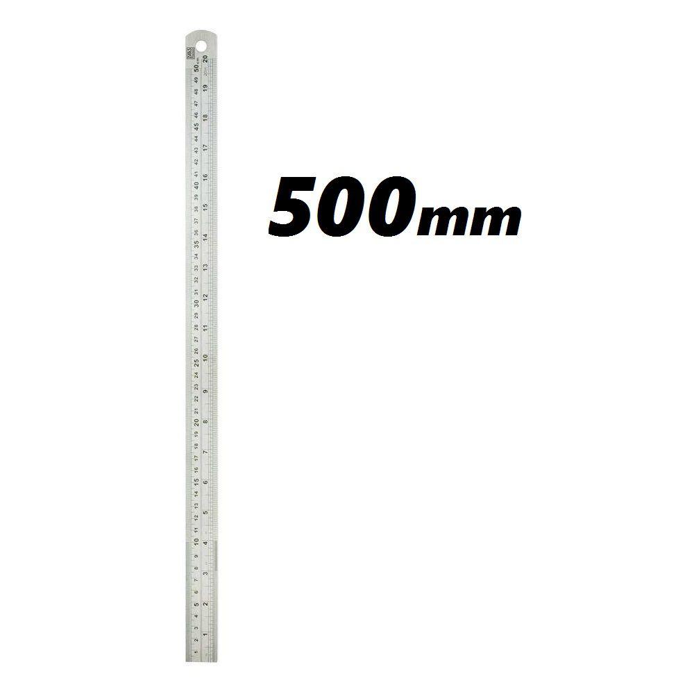 Escala Métrica de Aço Inox 500mm ZAAS