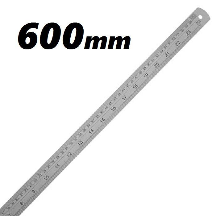 Escala Métrica de Aço Inox 600mm ZAAS
