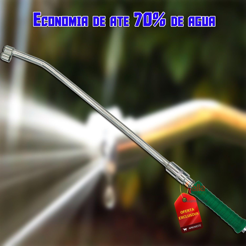 """Esguicho Longo Jetgarden P/ Mangueira Economize Ate 70% Água Garden 1/2"""" c/Sistema Abre/Fecha"""
