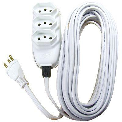Extensão Elétrica 10m Branca Ilumi
