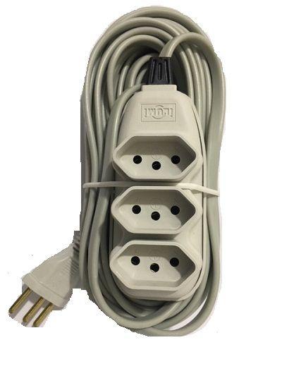 Extensão Elétrica 3m Cinza Ilumi