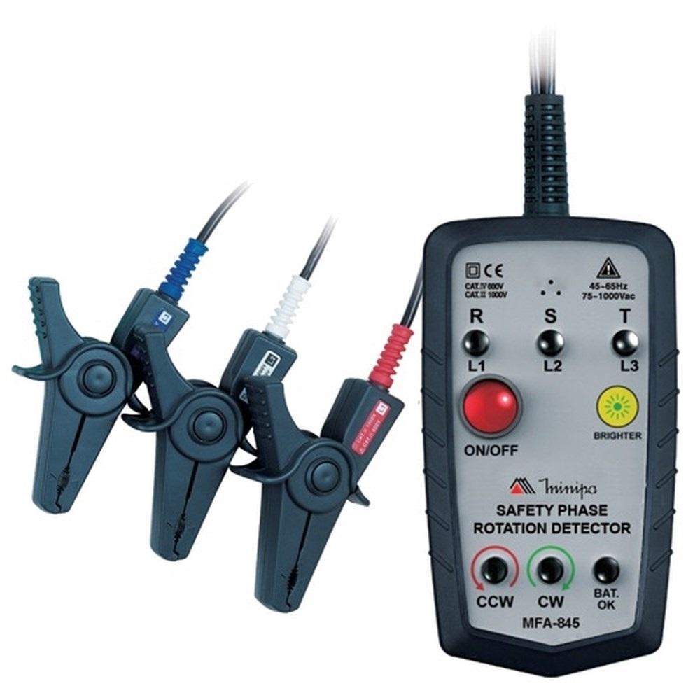Fasímetro Cat4 600V S MFA-845 Minipa Contato Metálico