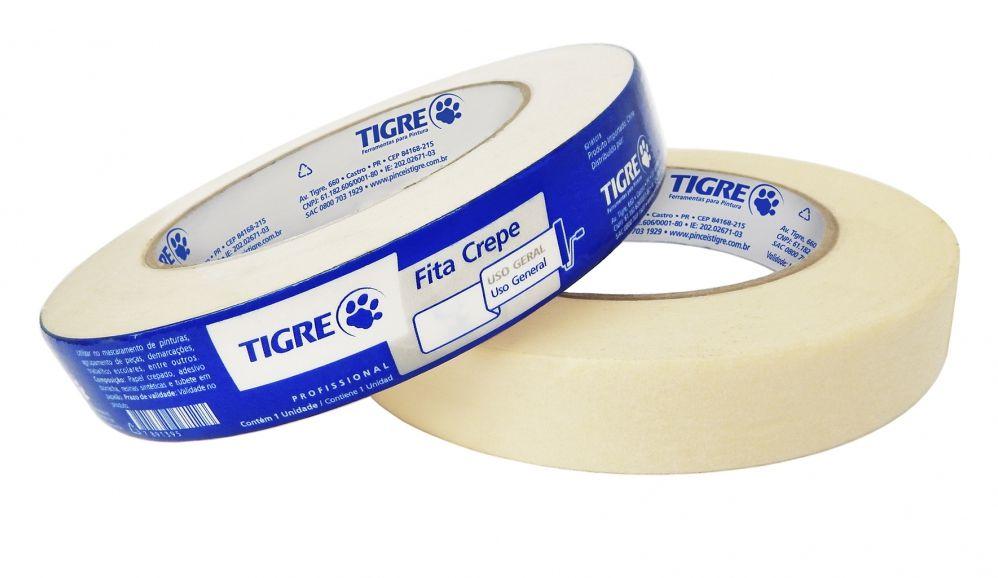 Fita Crepe / Adesiva 18MM X 50MM Tigre