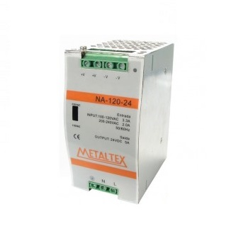 Fonte Chaveada 110-220v/24v 5 Amp NA 120-24 Metaltex