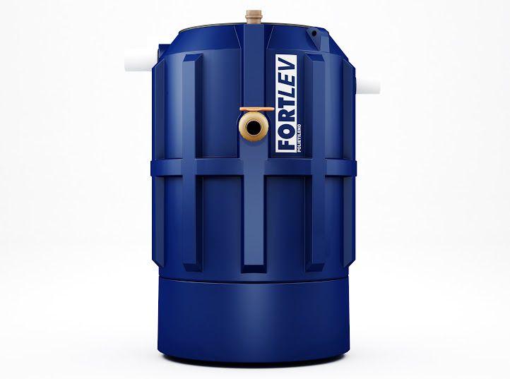 Fossa Séptica Biodigestor de Polietileno Tratamento Esgoto 1500 litros Fortlev