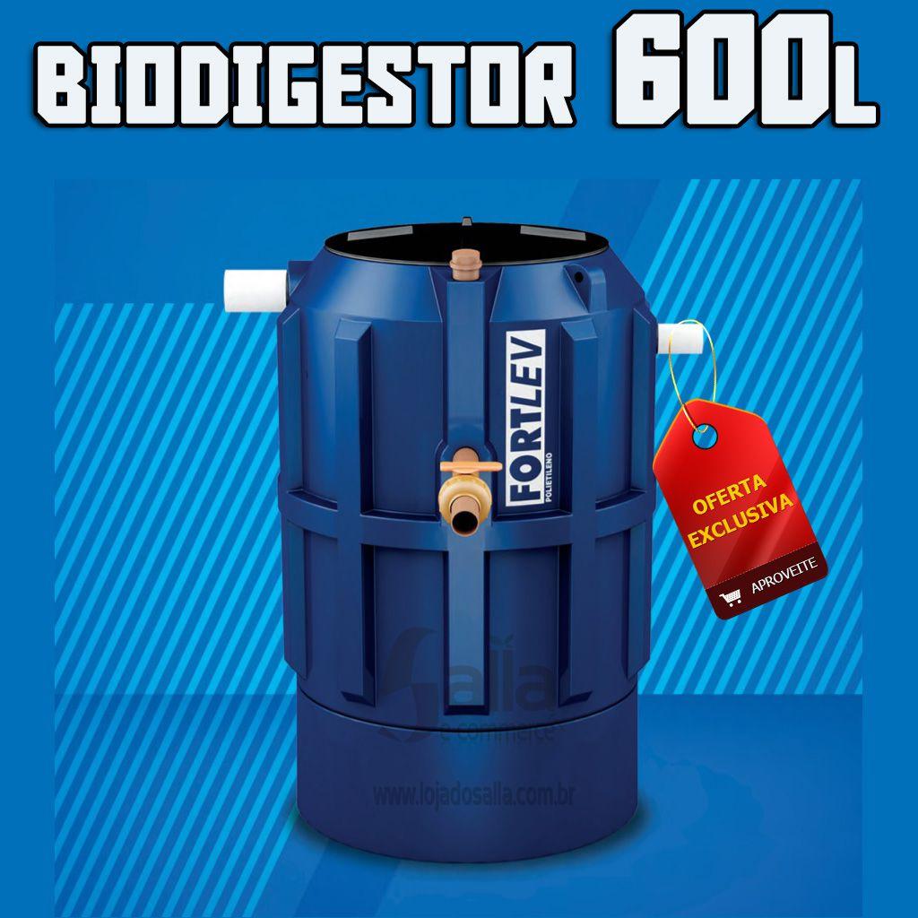 Fossa Séptica Biodigestor de Polietileno Tratamento Esgoto 600 litros Fortlev