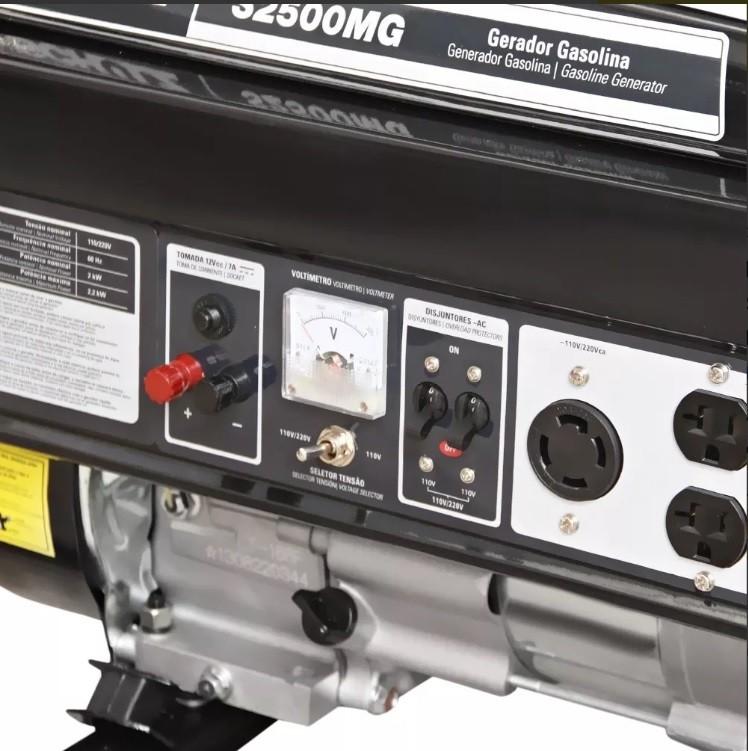 Gerador Gasolina Monofásico 4T 127/220v S2500MG Schulz