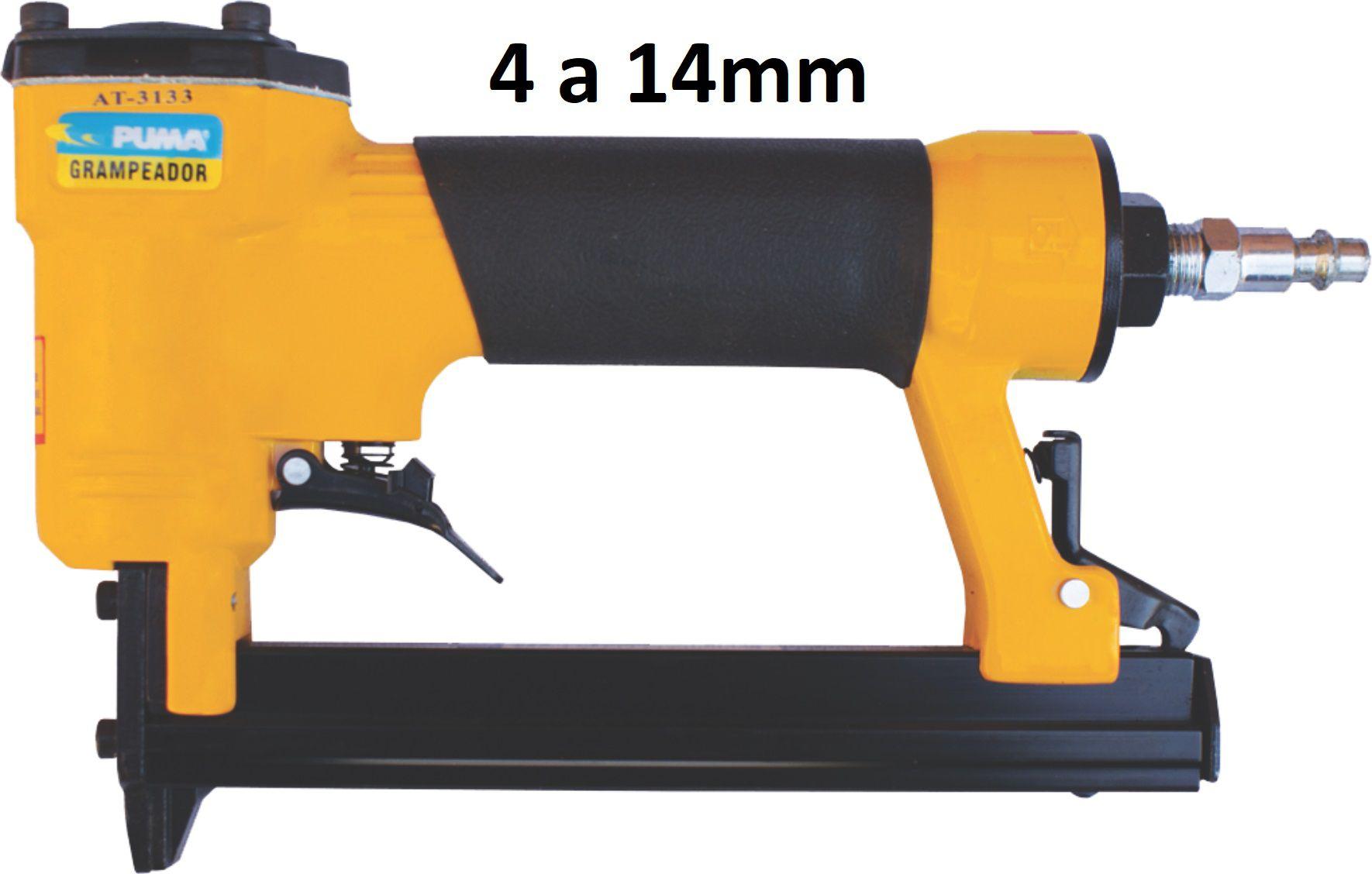Grampeador Pneumático Profissional p/ Tapeçaria Grampos 4 a 14mm AT-3133 Puma