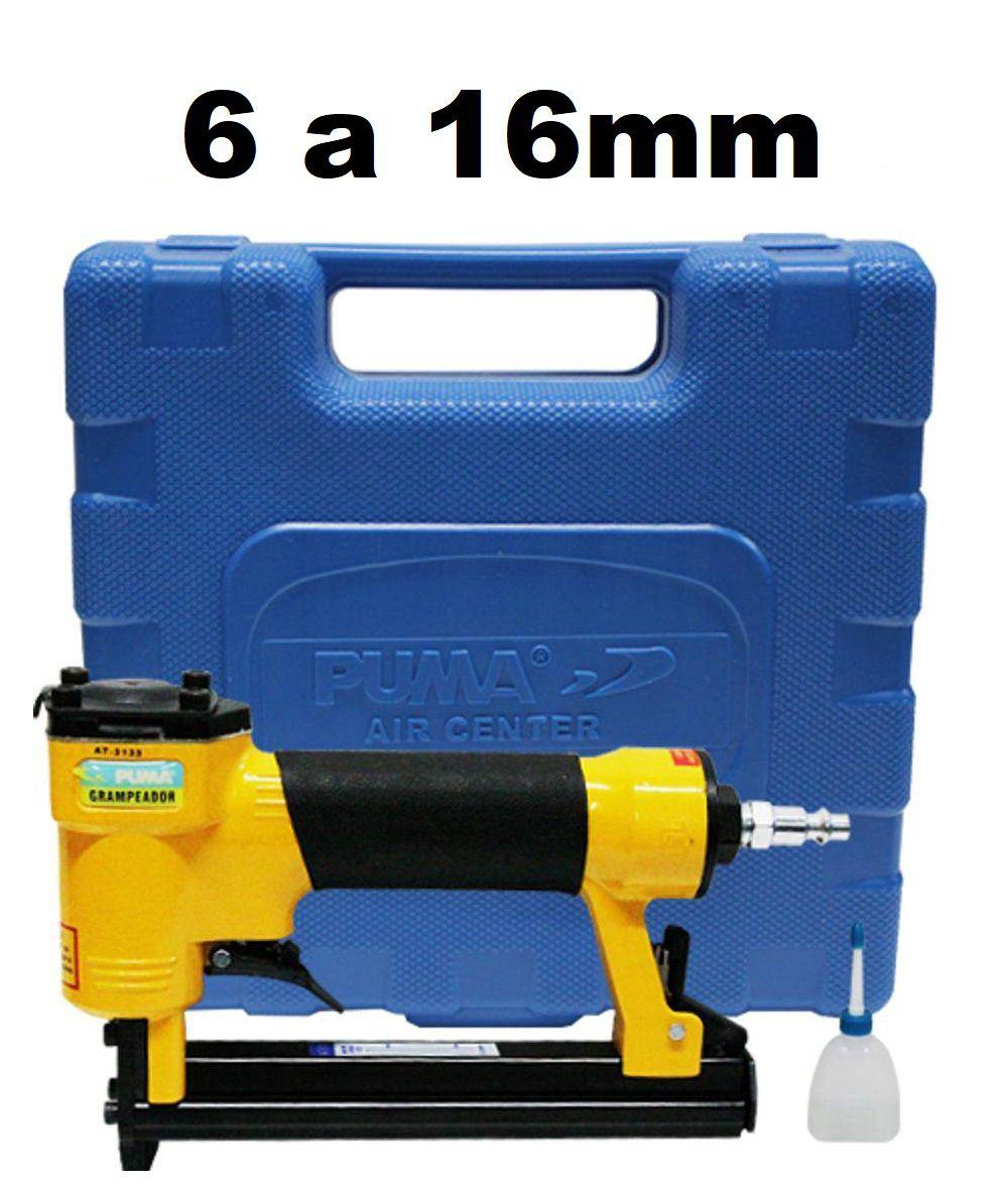 Grampeador Pneumático Profissional p/ Grampos 6 a 16mm AT-3134 Puma