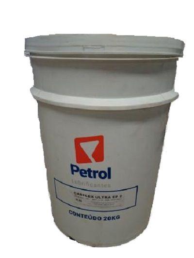 Graxa Industrial Veículos / Rolamentos Petrol Carflex EP2 Ultra Azul Balde 20Kg